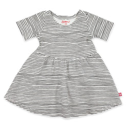 Zutano Dress Pencil Stripe Short Sleeve Forever Dress
