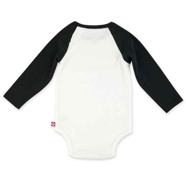 Zutano One Piece Baseball Rib Bodysuit - White/Black