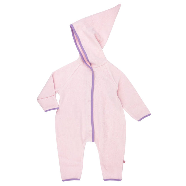 Zutano One Piece Cozie Elf Suit - Baby Pink