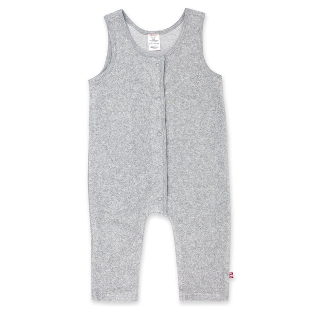 Zutano One Piece Cozie Fleece Overall - Heather Gray