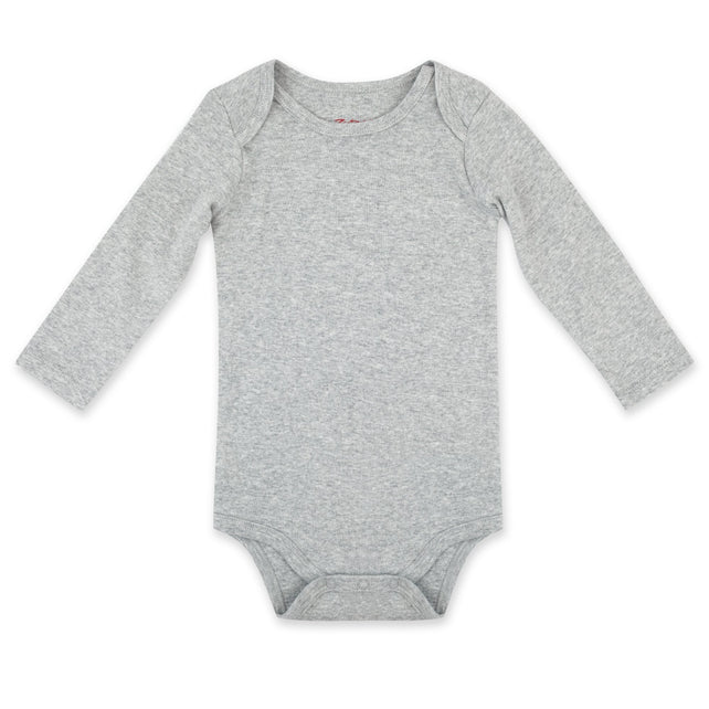 Zutano One Piece Organic Cotton Rib Bodysuit - Heather Gray