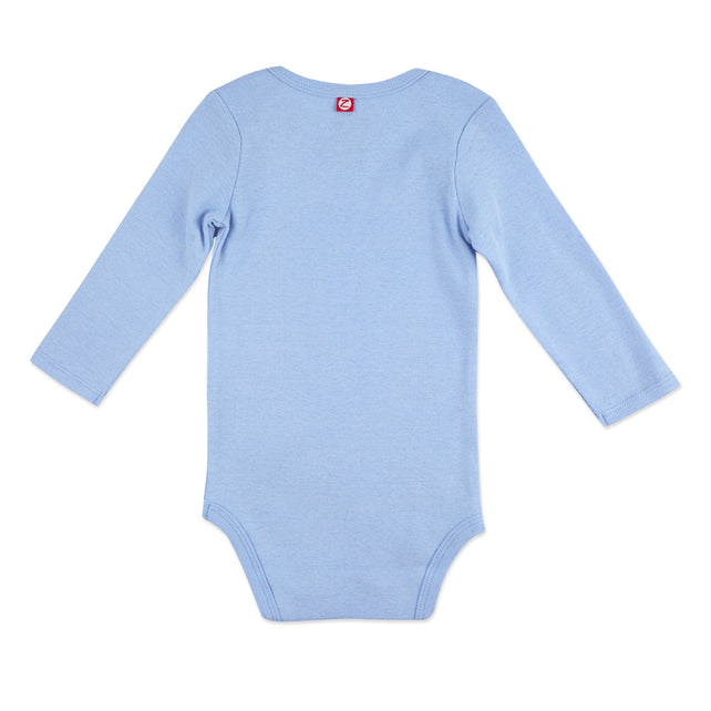 Zutano One Piece Organic Cotton Rib Bodysuit - Light Blue
