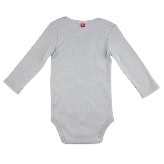 Zutano One Piece Organic Cotton Rib Bodysuit - Light Gray
