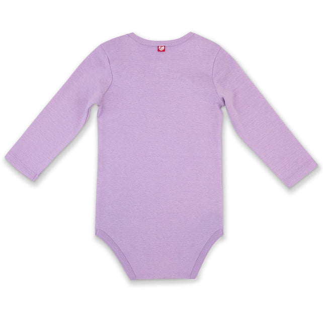 Zutano One Piece Organic Cotton Rib Bodysuit - Lilac