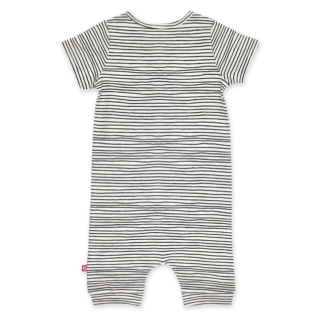 Zutano One Piece Pencil Stripe Henley Bodysuit