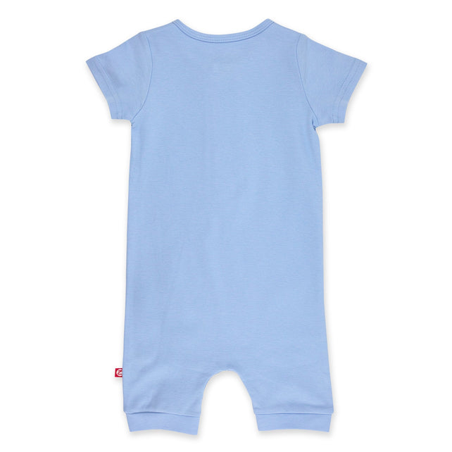Zutano One Piece Solid Henley Bodysuit - Light Blue