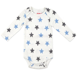 Zutano One Piece Stars Rib Bodysuit - Light Blue