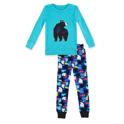 Zutano Pajama Big Bear Organic Cotton Pajama Set