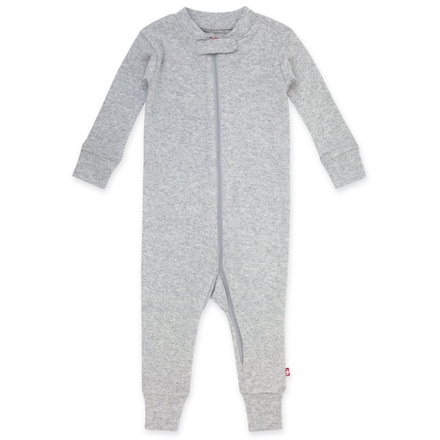 Zutano Pajama Organic Cotton Sleeper - Heather Gray