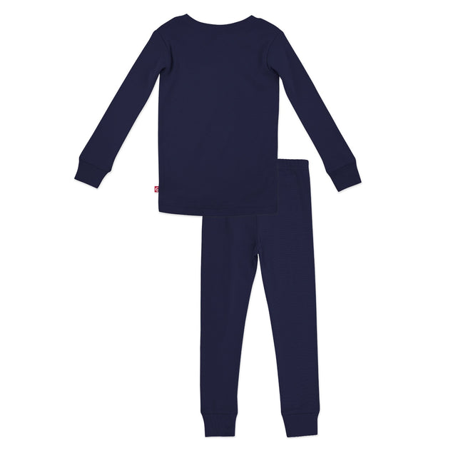 Zutano Pajama Solid Organic Cotton Pajama Set - True Navy