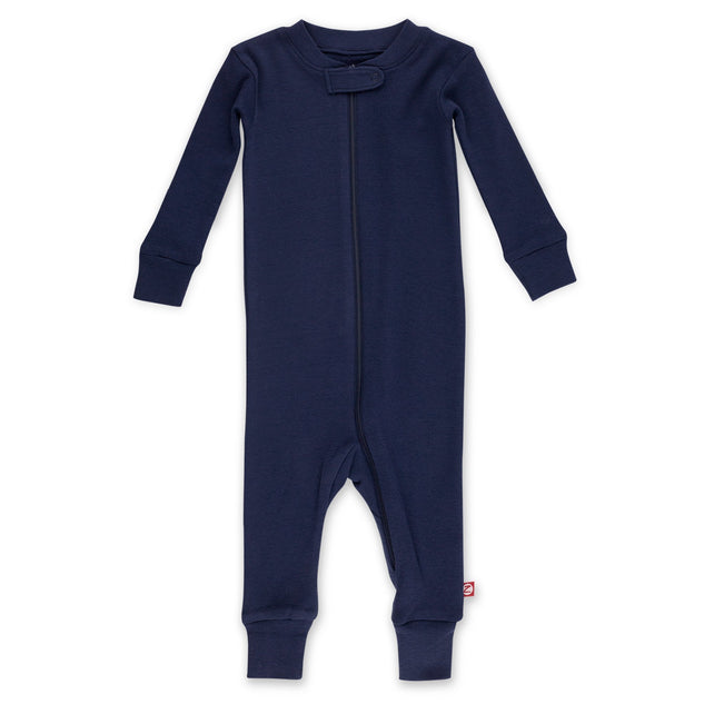 Zutano Pajama Solid Organic Cotton Sleeper - True Navy