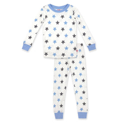 Zutano Pajama Stars Organic Cotton Pajama Set - Light Blue