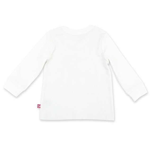 Zutano Top Elephant Organic Cotton Long Sleeve Crewneck