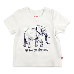 Zutano Top Elephant Screen Short Sleeve Tee