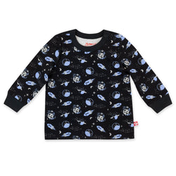 Zutano Top Lost In Space Organic Cotton Long Sleeve Crewneck
