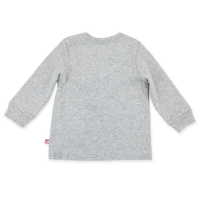 Zutano Top Organic Cotton Long Sleeve Crewneck - Heather Gray