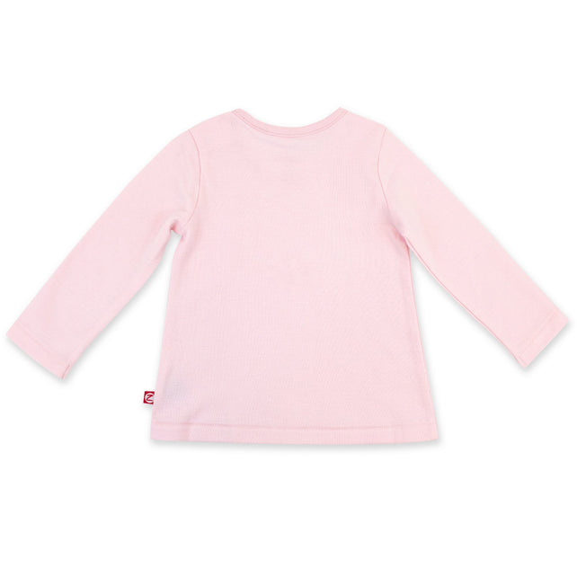 Zutano Top Organic Cotton Long Sleeve Swing Tee - Baby Pink