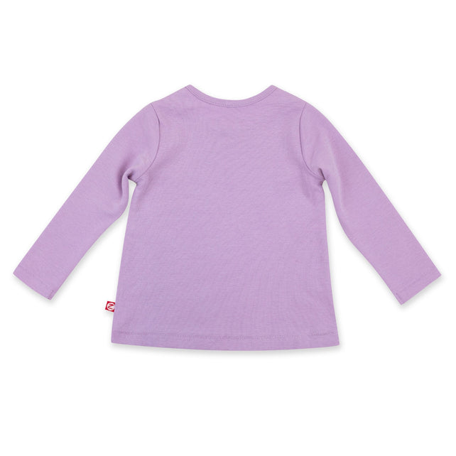 Zutano Top Organic Cotton Long Sleeve Swing Tee - Lilac