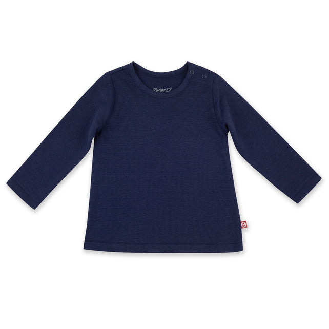 Zutano Top Organic Cotton Long Sleeve Swing Tee - True Navy
