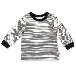 Zutano Top Pencil Stripe Organic Cotton Long Sleeve Crewneck