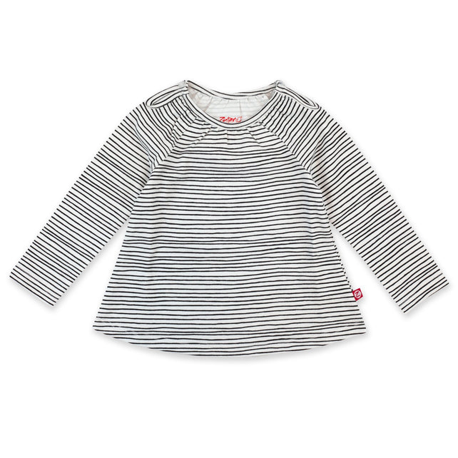 Zutano Top Pencil Stripe Organic Cotton Long Sleeve Peasant Top