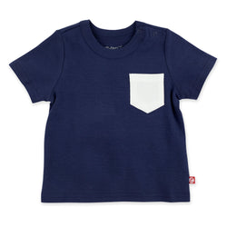 Zutano Top Solid Short Sleeve Pocket Tee