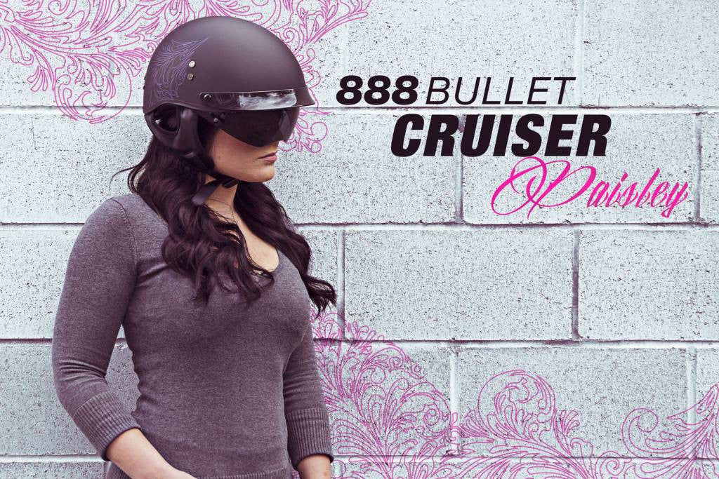 Excited To Share The Women's Paisley 888 Half Helmet