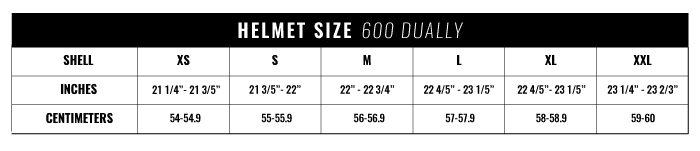 600 Dually Sizing Chart