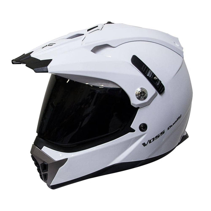 600 Dually Dual Sport Helmet - Gloss White Shark Fin