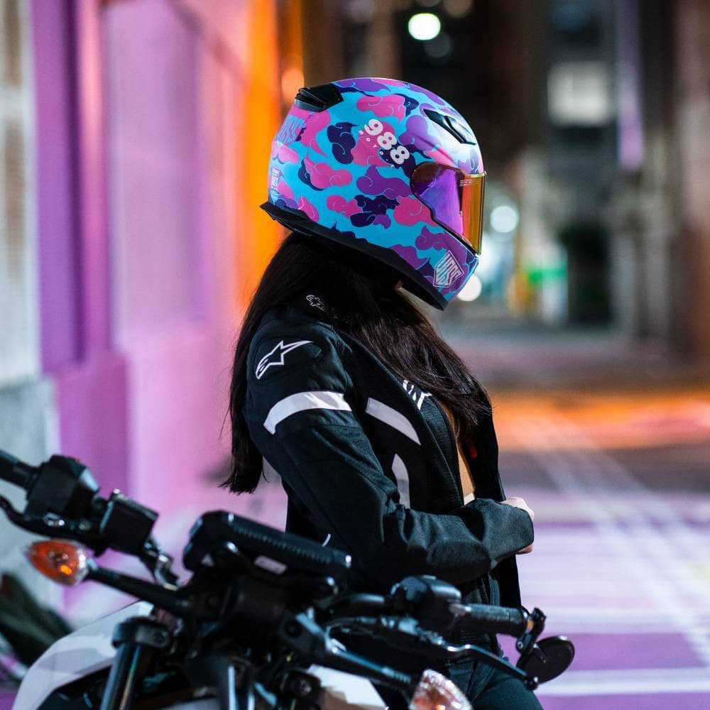 AVAILABLE NOW 988 Moto-1 Pink Camo Full Face Helmet