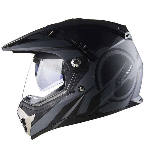 600 Dually Dual Sport Helmet - Two Tone Reaction - Voss Helmets