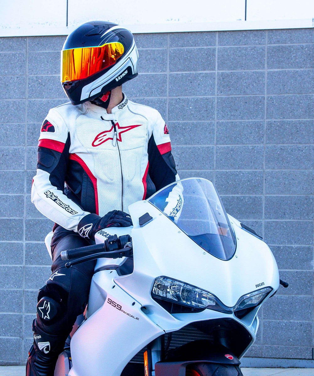 AVAILABLE NOW 988 Moto-1 Full Face Katana Helmet - Gloss White/ Black - Voss Helmets