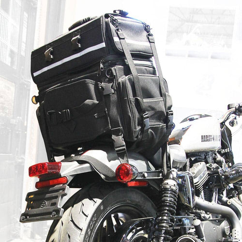 Americana Expandable Motorcycle Backrest Bag Full - Voss Helmets