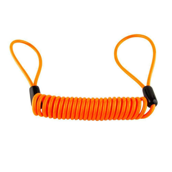 Orange Bungee Reminder cable for Disc lock - Voss Helmets
