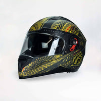 NOW AVAILABLE 989 Moto-V Matte Green Camo Serpiente Full Face Helmet - Voss Helmets