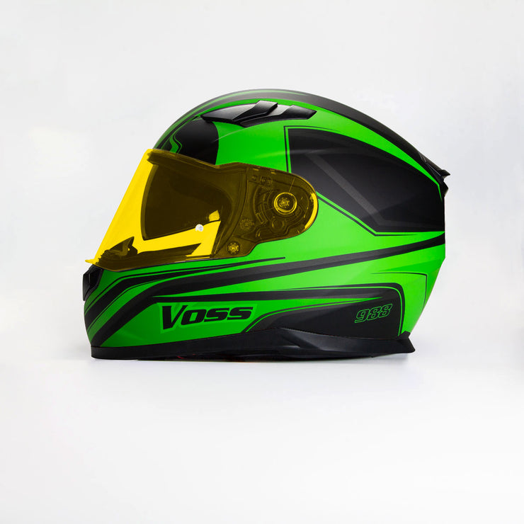 988 Moto-1 Full Face Kawa Green Synchro