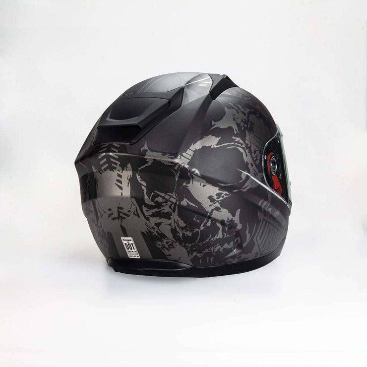 989 Moto-V Helter Skelter Full Face helmet in Matte Finish - Voss Helmets