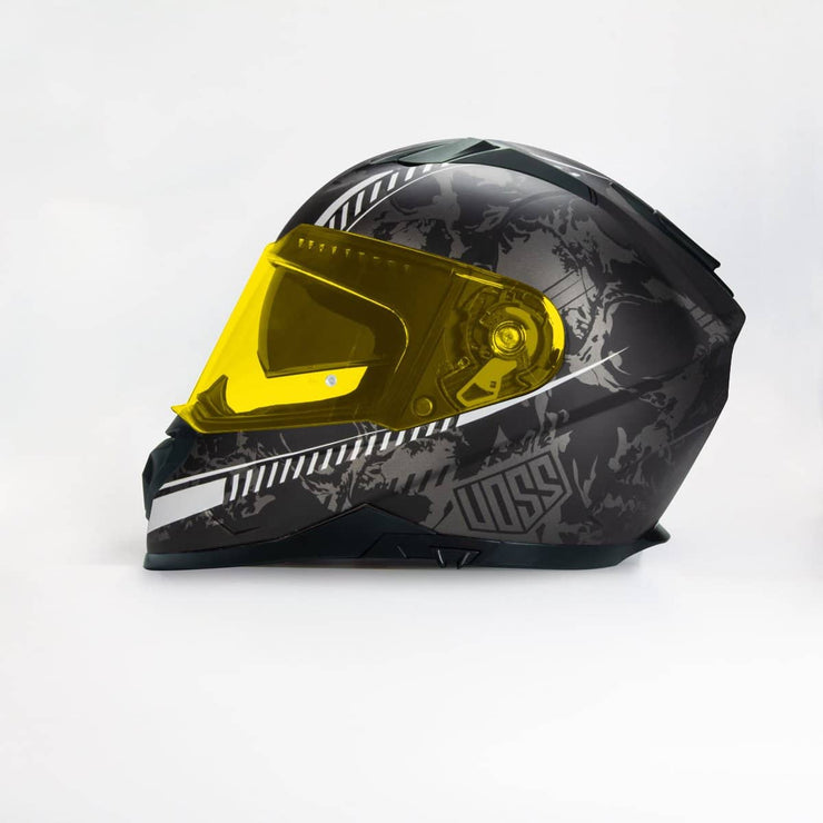 989 Moto-V Helter Skelter Full Face helmet in Matte Finish