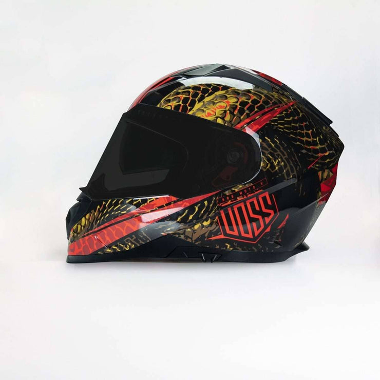 NOW AVAILABLE 989 Moto-V Gloss Red Serpiente Full Face Helmet - Voss Helmets