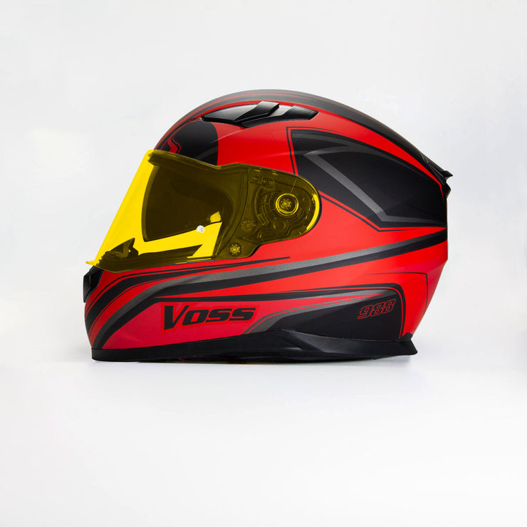 988 Moto-1 Full Face Matte Black/Red Synchro Helmet