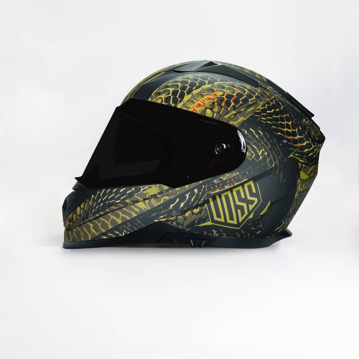 989 Moto-V Full Face Matte Green Serpiente Helmet