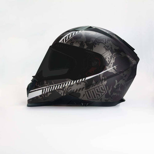 NOW AVAILABLE 989 Moto-V Helter Skelter Full Face helmet in Matte Finish - Voss Helmets