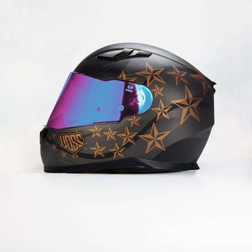 AVAILABLE NOW 988 Moto-1 Sgt Pepper Matte Black/ Bronze Full Face Helmet