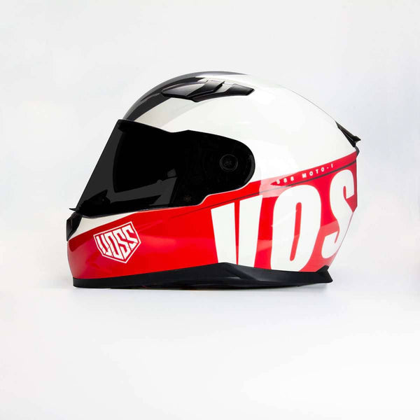 AVAILABLE NOW 988 Moto-1 Schooled in Red Full Face Helmet