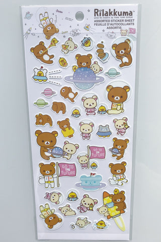 Rilakkuma Space Stickers, White