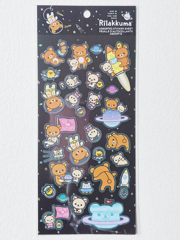 Rilakkuma Space Stickers, Black