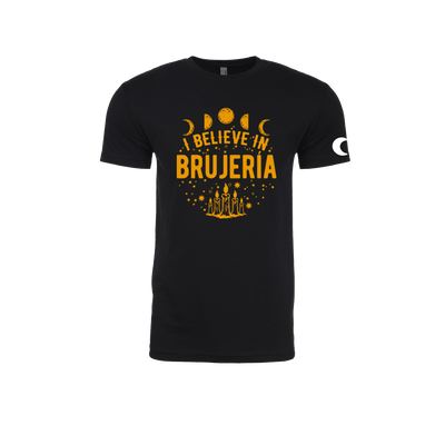 I Believe in Brujería Black and Gold T-Shirt