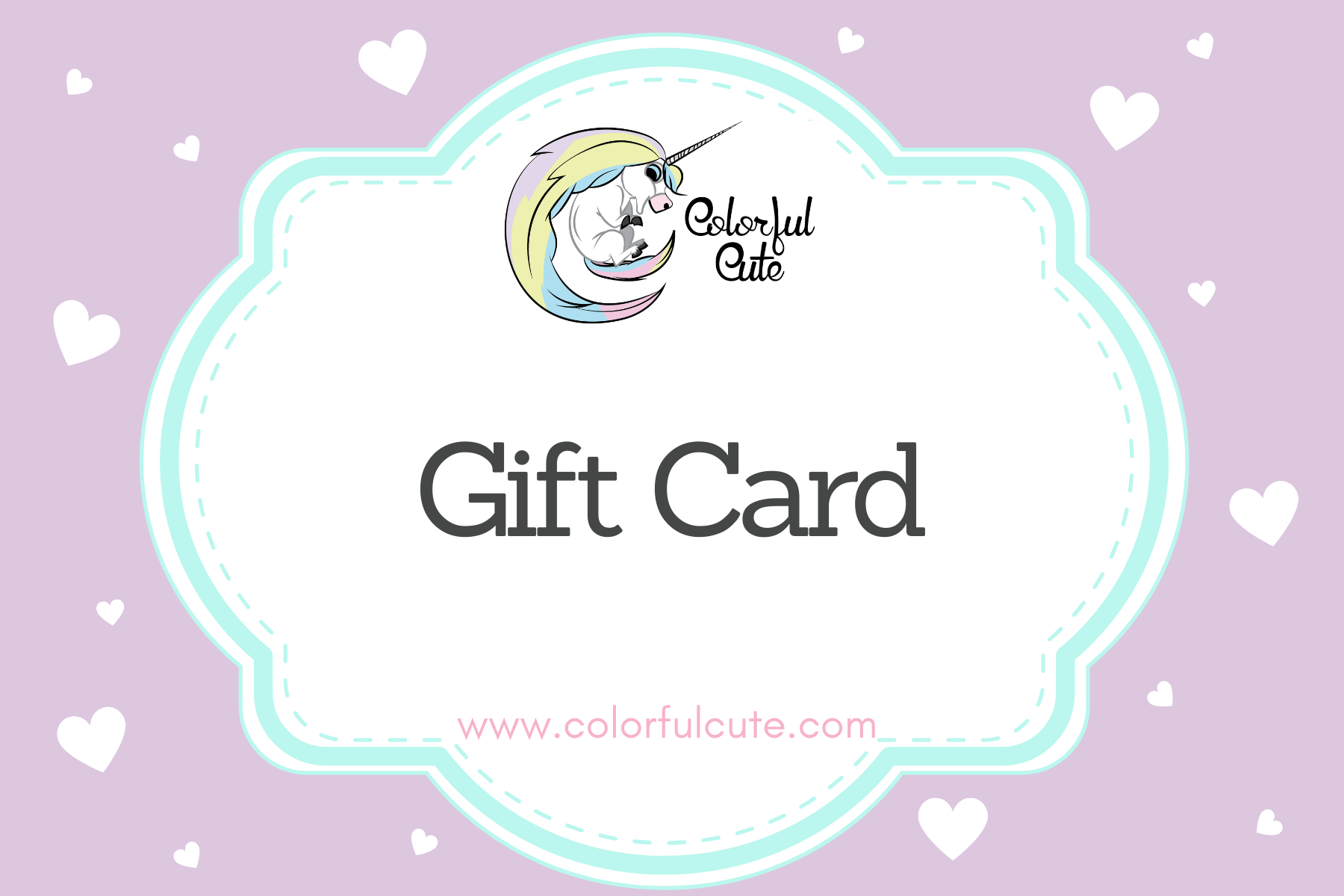 Colorful Cute Gift Card