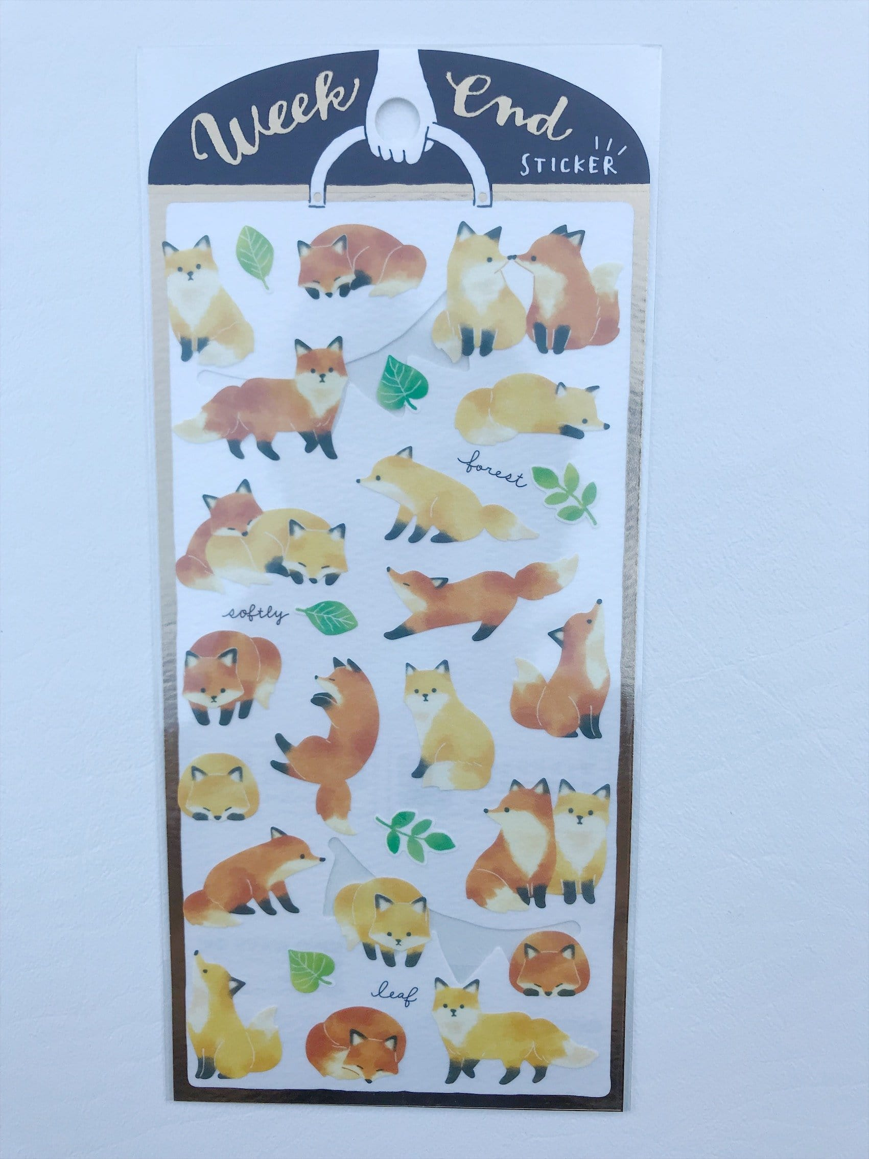 Watercolor Foxes Sticker Sheet
