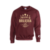 I Believe in Brujería Burgundy and Cream Sweater